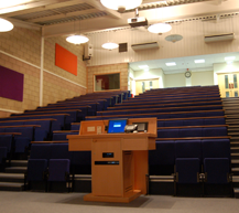 "<div class=""venueHireContainer""> <h3>Lecture Theatre</h3> <ul> <li>Capacity 240 with dedicated wheelchair spaces</li> <li>Plug-and-play audio/video presentation facilities</li> <li>Controllable lighting system</li> <li>Access from both ground and first floor</li> <li>Adjacent breakout rooms</li> </ul> </div>"