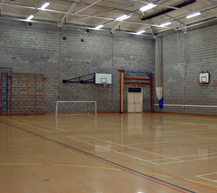 "<div class=""venueHireContainer""> <h3>Sports Hall</h3> <ul> <li>Indoor football goals, 4 badminton courts, basketball</li>  <li>4 cricket nets with mats</li> <li>Perfect also for large fitness classes</li>  <li>Changing rooms available</li> </ul> </div>"