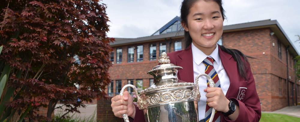 Winner of the Emmanuel College Vardy Award for Excellence, Holly Ip